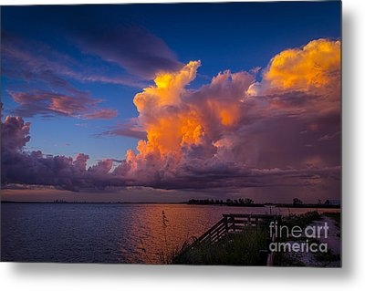 Storm On Tampa Metal Print by Marvin Spates