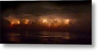 Storm On The Surf. Melbourne Shores. Metal Print by Chris  Kusik