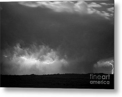 Storm Over Pine Ridge Metal Print by Chris  Brewington Photography LLC