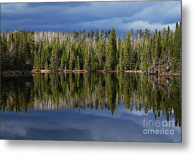 Storm Reflections Metal Print by Larry Ricker