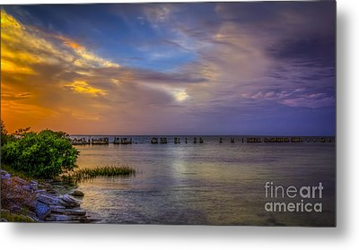 Storms Rolling In Metal Print by Marvin Spates