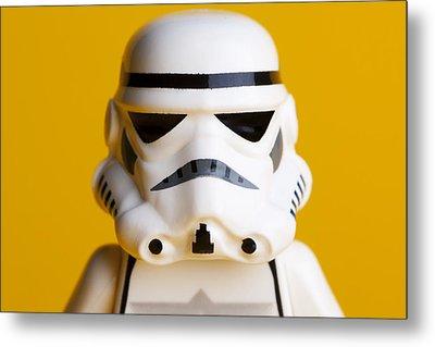 Stormtrooper Portrait Metal Print by Samuel Whitton