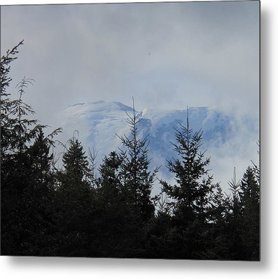 Stormy Day At Mt. Rainier Metal Print by Kay Gilley