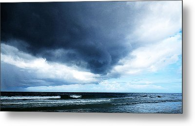 Stormy - Gray Storm Clouds By Sharon Cummings Metal Print by Sharon Cummings