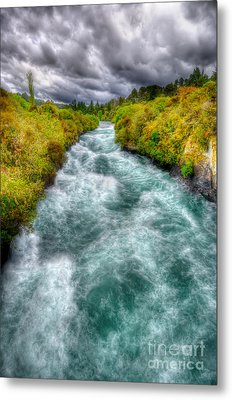 Stormy River Metal Print by Colin Woods