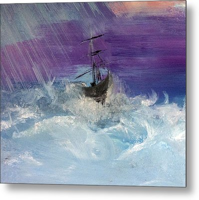 Stormy Seas Metal Print by Lisa Kaiser