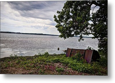 Stormy Shores Metal Print by Deborah Klubertanz