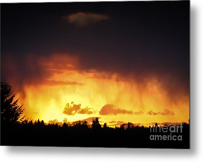 Stormy Sunset Metal Print by Kevin Barske