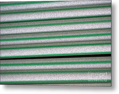 Straw Green Metal Print by Carol Lynch