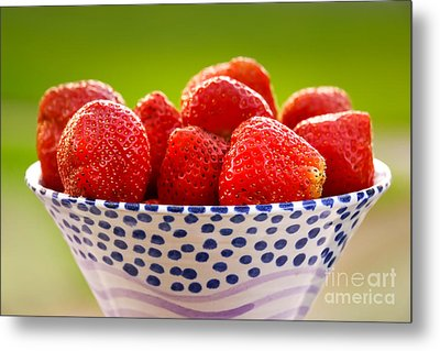 Strawberries Metal Print by Lutz Baar