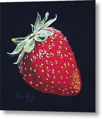 Strawberry Metal Print by Aaron Spong