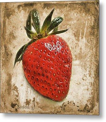 Strawberry  Metal Print by Barbara Orenya