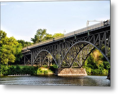 Strawberry Mansion Bridge And The Schuylkill River Metal Print by Bill Cannon