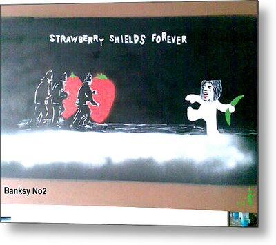 Strawberry Shields Forever Metal Print by MERLIN Vernon