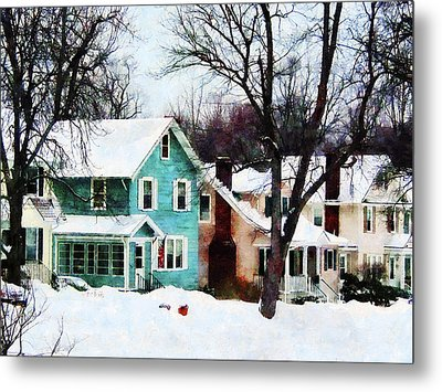 Street After Snow Metal Print by Susan Savad