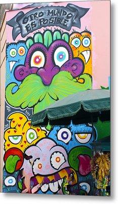 Street Art Lima Peru 2 Metal Print by Kurt Van Wagner