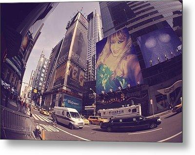 Street Of New York Metal Print by HollyWood Creation By linda zanini
