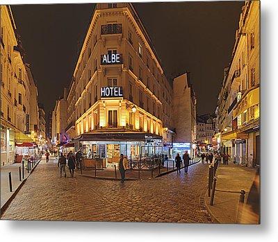 Street Scenes - Paris France - 011328 Metal Print by DC Photographer