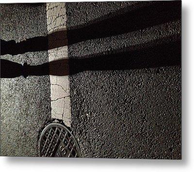Street Shadow Metal Print by H James Hoff