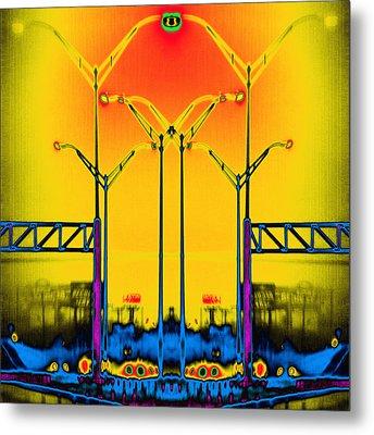 Streetlight Serenade 4 Metal Print by Wendy J St Christopher