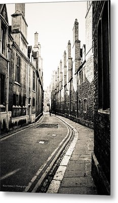 Streets Of Cambridge - For Eugene Atget Metal Print by Ross Henton