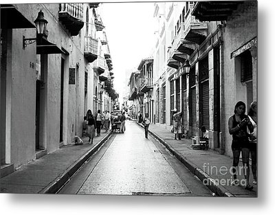 Streets Of Cartagena I Metal Print by John Rizzuto