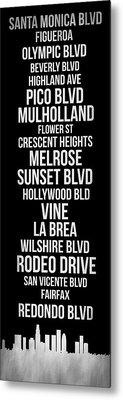 Streets Of Los Angeles 2 Metal Print by Naxart Studio