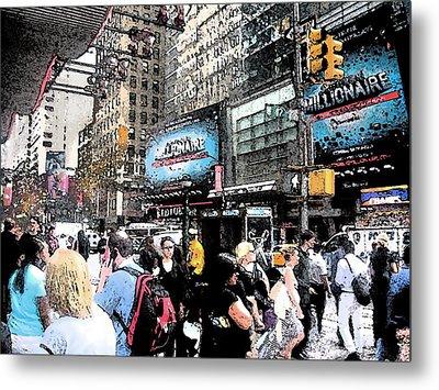 Streets Of New York City 3 Metal Print by Mario Perez