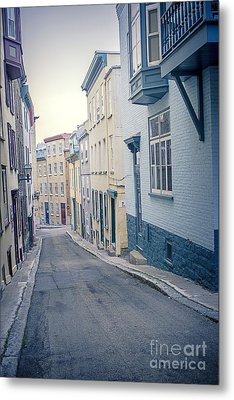 Streets Of Old Quebec City Metal Print by Edward Fielding