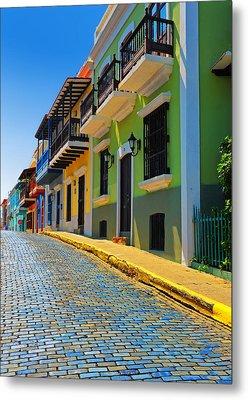 Streets Of Old San Juan Metal Print by Stephen Anderson