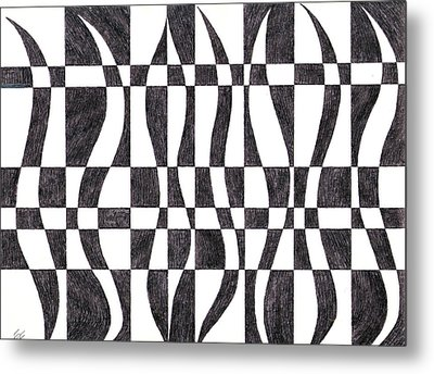 Striped Metal Print by Eric Forster