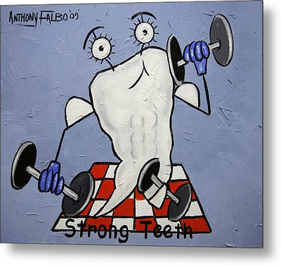 Strong Teeth Metal Print by Anthony Falbo