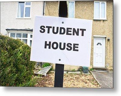Student House Metal Print by Tom Gowanlock