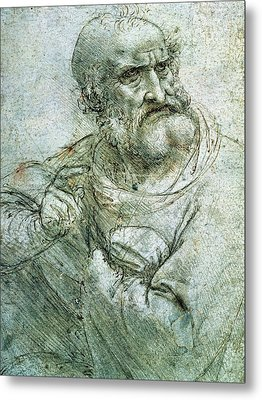 Study For An Apostle From The Last Supper Metal Print by Leonardo da Vinci