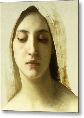 Study For La Charite Metal Print by William-Adolphe Bouguereau