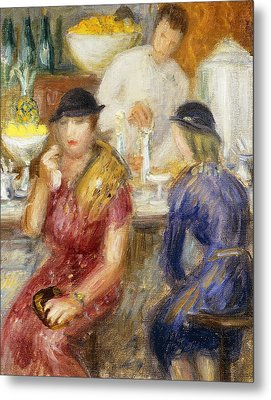Study For The Soda Fountain Metal Print by William James Glackens