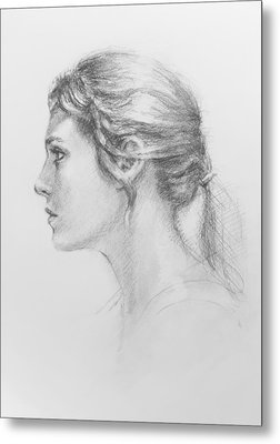Study In Profile Metal Print by Sarah Parks
