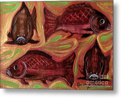 Study Of Fish Metal Print by Anna Folkartanna Maciejewska-Dyba