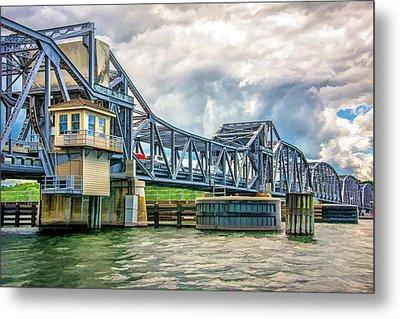 Sturgeon Bay Historic Michigan Street Bridge In Door County Metal Print by Christopher Arndt