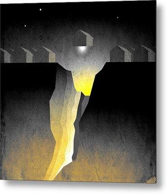 Suburban Fracture  Metal Print by Milton Thompson