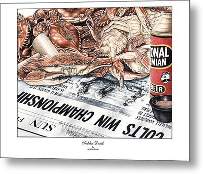 Sudden Death Metal Print by Jonathan W Brown