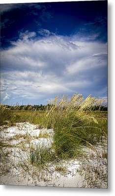 Sugar Sand And Sea Oats Metal Print by Marvin Spates