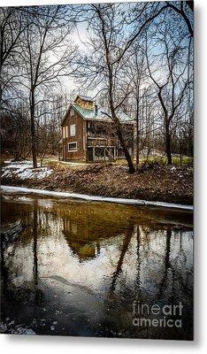 Sugar Shack In Deep River County Park Metal Print by Paul Velgos