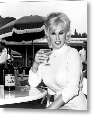 Sultry Mamie Van Doren Metal Print by Underwood Archives