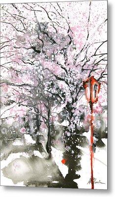 Sumie No.3 Cherry Blossoms Metal Print by Sumiyo Toribe