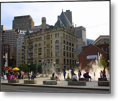 Summer Afternoon In Boston Metal Print by Dora Sofia Caputo Photographic Art and Design