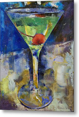 Summer Breeze Martini Metal Print by Michael Creese