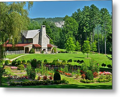 Summer Cottage Metal Print by Frozen in Time Fine Art Photography