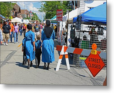 Summer Festival In Berne Indiana II Metal Print by Suzanne Gaff