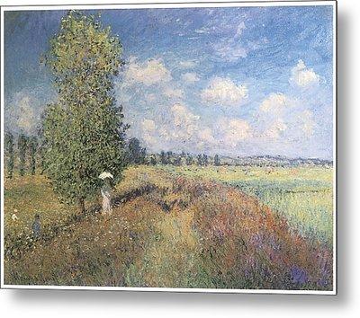 Summer Field Of Poppies Metal Print by Claude Monet